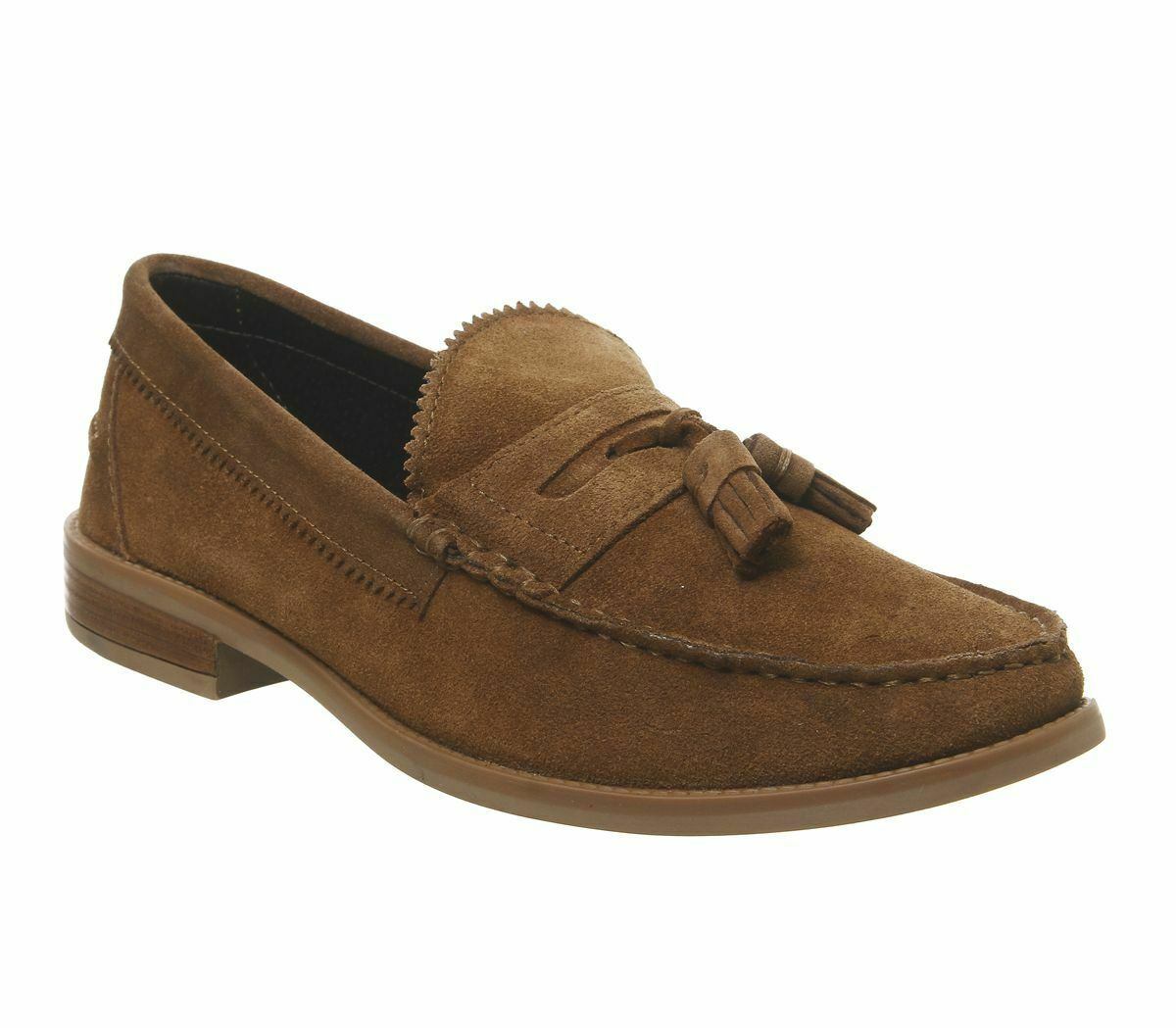 Mens Office Liho Tassel Loafers Rust Suede Formal zapatos