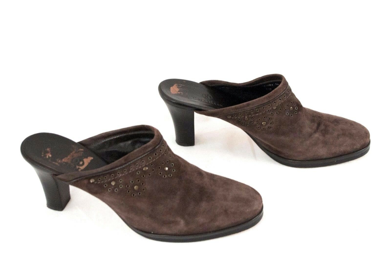 Cole Haan shoes US 10 B Mules Clogs Brown Suede Leather