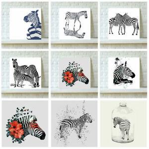 Animale-Tela-Art-Stampa-Zebra-Muro-ARTE-PITTURA-QUADRO-ARREDAMENTO-CASA-REGALO-30-60cm
