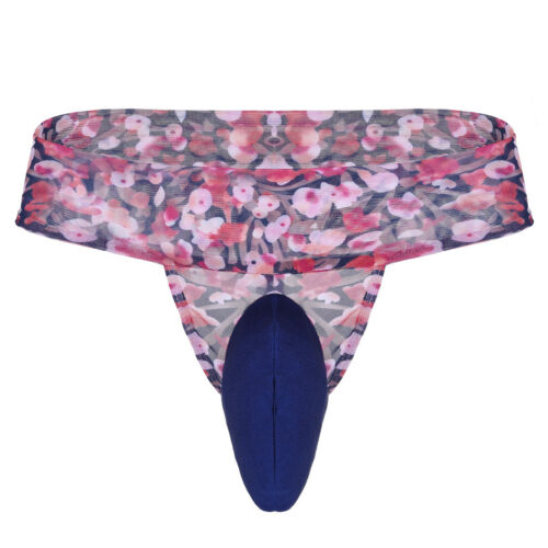 Sissy Men G-string Brief Pouch Underwear Low Rise Bikini Thong Panties Lingerie