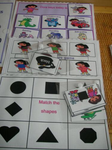 10 Juegos Autismo//necesidades especiales S Libro De Juegos Dora