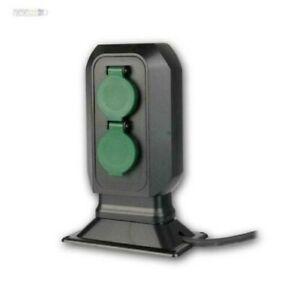 Gartensteckdose-2-4-fach-Erdspiess-oder-Boden-Montage-IP44-Aussen-Steckdose-230V