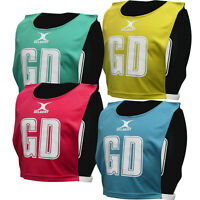 Gilbert Reversible Netball Bibs - Pack Of 7 M L Xl Sizes Cheap Netball Tops