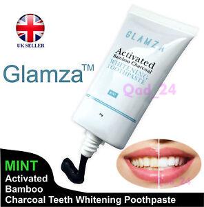 CARBONE-Attivo-Nero-Naturale-Organico-Sbiancamento-Dentifricio-Igiene-Orale-Regno-Unito