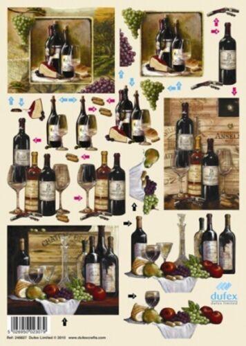 Wine Dufex Die Cut Decoupage 248827