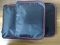 lot of 3pcs pin trading collector bag case purse fit disney park hard rock sport