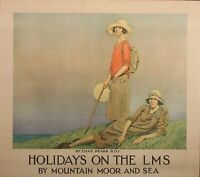 302 Vintage Railway Art  - Holiday On The LMS  *FREE POSTERS
