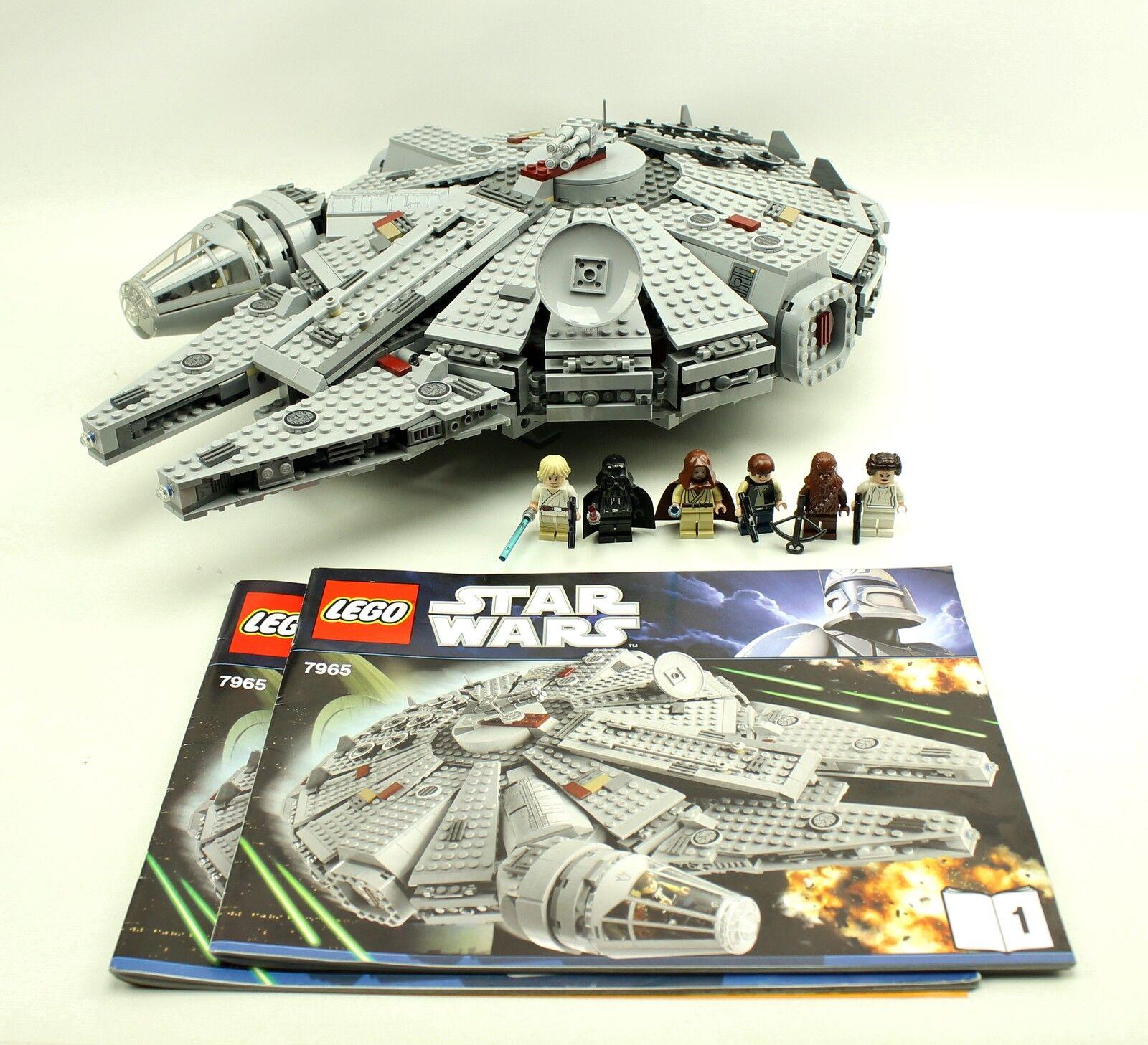 Complete Lego Star Wars 7965 MILLENNIUM FALCON Obi-Wan Leia Han Solo Darth 2011