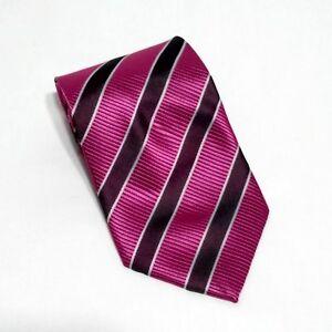 Giorgio-Armani-100-Silk-Pink-Magenta-Diagonal-Classic-Tie