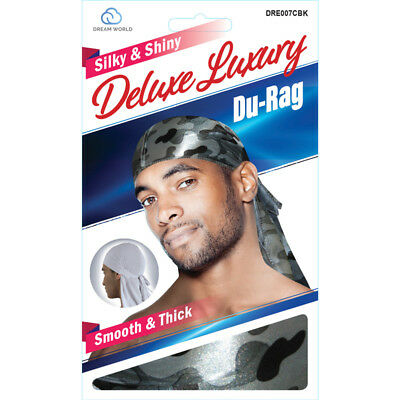 Smooth /& Thick Shiny /& Silky Deluxe Du Rag Camouflauge Orange NEW!!!!!!!!!!!!