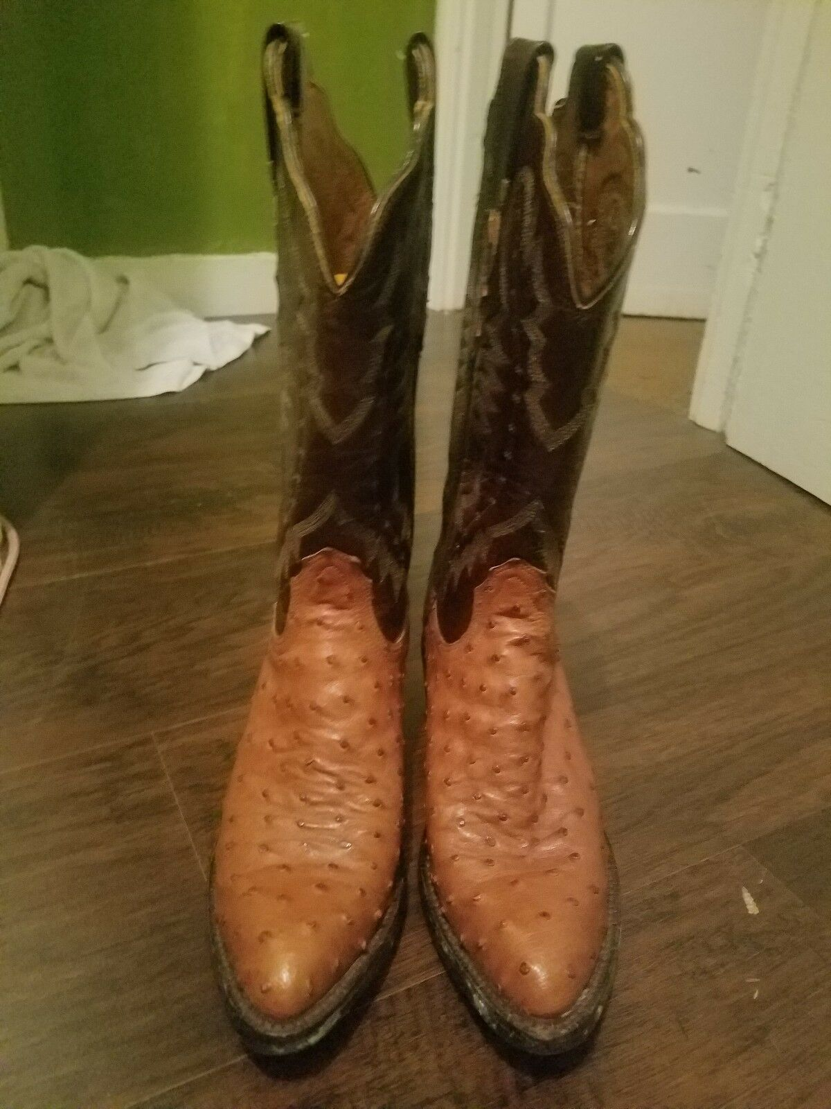 Tan and brown lucchese womens womens womens cowboy boots size 7 almost never worn 90b83c