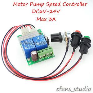 DC 6V-24V 3A Reversible Motor Speed Regulator PWM Controller Forward Reverse Kit