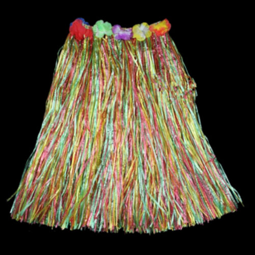Hawaiian Dress Skirt Hula Grass Skirt With Flower Accessories Lady Costume YH