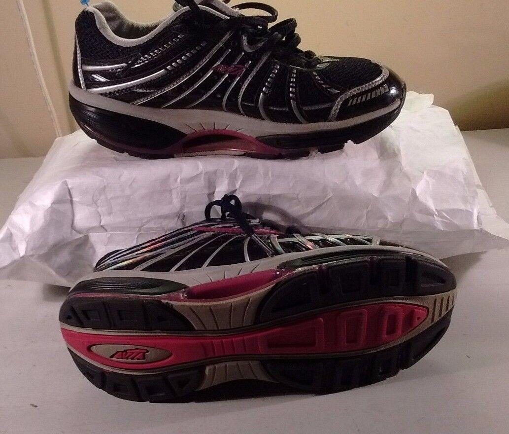 Avia Avi-Motion Black Synthetic Rocker Toning Fitness Lace Women shoes 6.5M 37,5