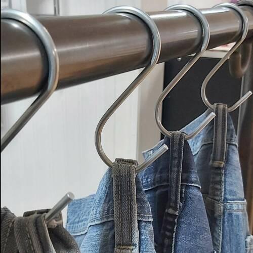 Medium Denim Jeans Hooks for Garment Rails Wardrobe Storage Pack of 10 K46