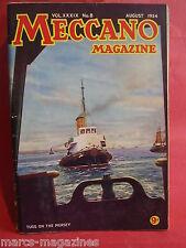 MECCANO MAGAZINE AUGUST 1954 TULIP RALLY POWERHOUSEIN A MOUNTAIN MERSEY TUG