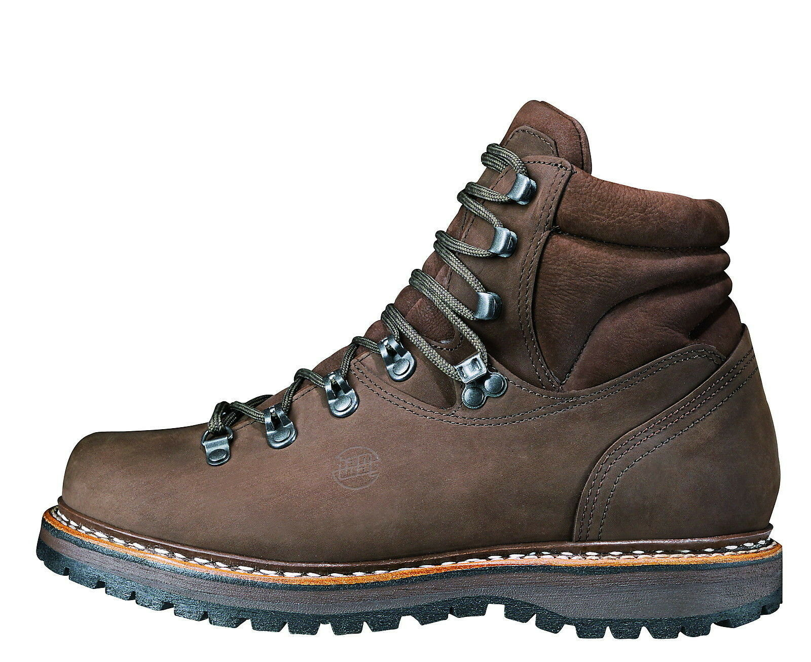 Hanwag Double-Stitched Classic Bergler Leather Size 12 - 47 Maroon