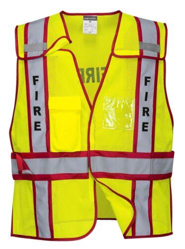 10PK PORTWEST PUBLIC SAFETY HI VIS FIRE VESTS SIZE M//XL-2XL//4XL US387