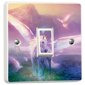 Unicorn-Fantasy-Fairytale-Light-Switch-Sticker-Cover-Vinyl-Skin-Wall-Decal