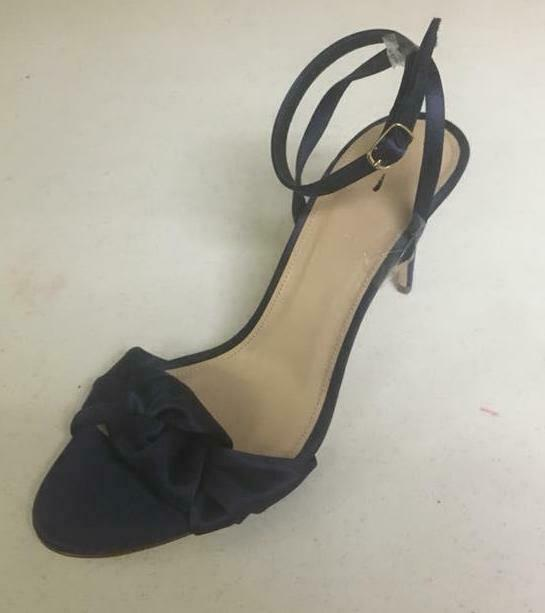 NEW JCREW Satin bow high-heel sandals blu Sz 9.5 Party Work