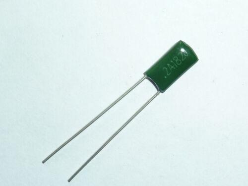 20PCS 100V 0.0018uF 1.8nF 1800pF 2A182J ± 5/% Condensadores de película Mylar radial