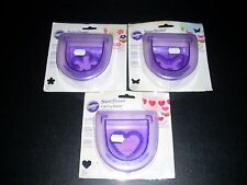 Wilton Cake Decorating tools, Lot Of 3, Cutting Inserts.