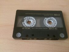 TDK MA-X 46 METAL AUDIO CASSETTE TAPE NO CASE-HIGH QUALITY 46 MINUTES VERY RARE