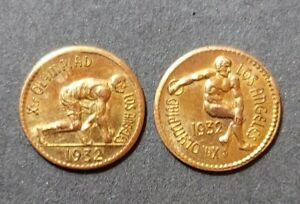 1932-Los-Angeles-Olympics-Fractional-Gold-Souvenir-Tokens