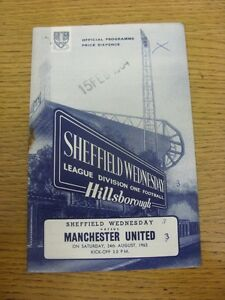 24-08-1963-Sheffield-Wednesday-v-Manchester-United-Heavy-Rusty-Staple-Writing
