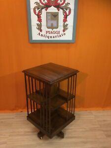 mobiletto libreria inglese periodo vittoriano fine 1800 primi 1900 legno mogano