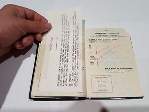1977-Belgium-Travel-Document-Cut-Us-USA-Visas-Kingdom-of-Belgium