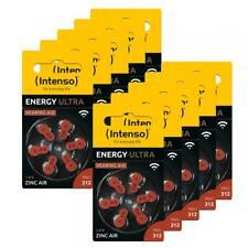 60 Intenso Energy Ultra Typ 312 Zink-Luft Hörgerätebatterien im 6er Blister