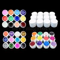 NEW 12 PCS Mix Color Pure UV Gel Builder Polish Tips Acrylic Nail Art Set GDCOCO