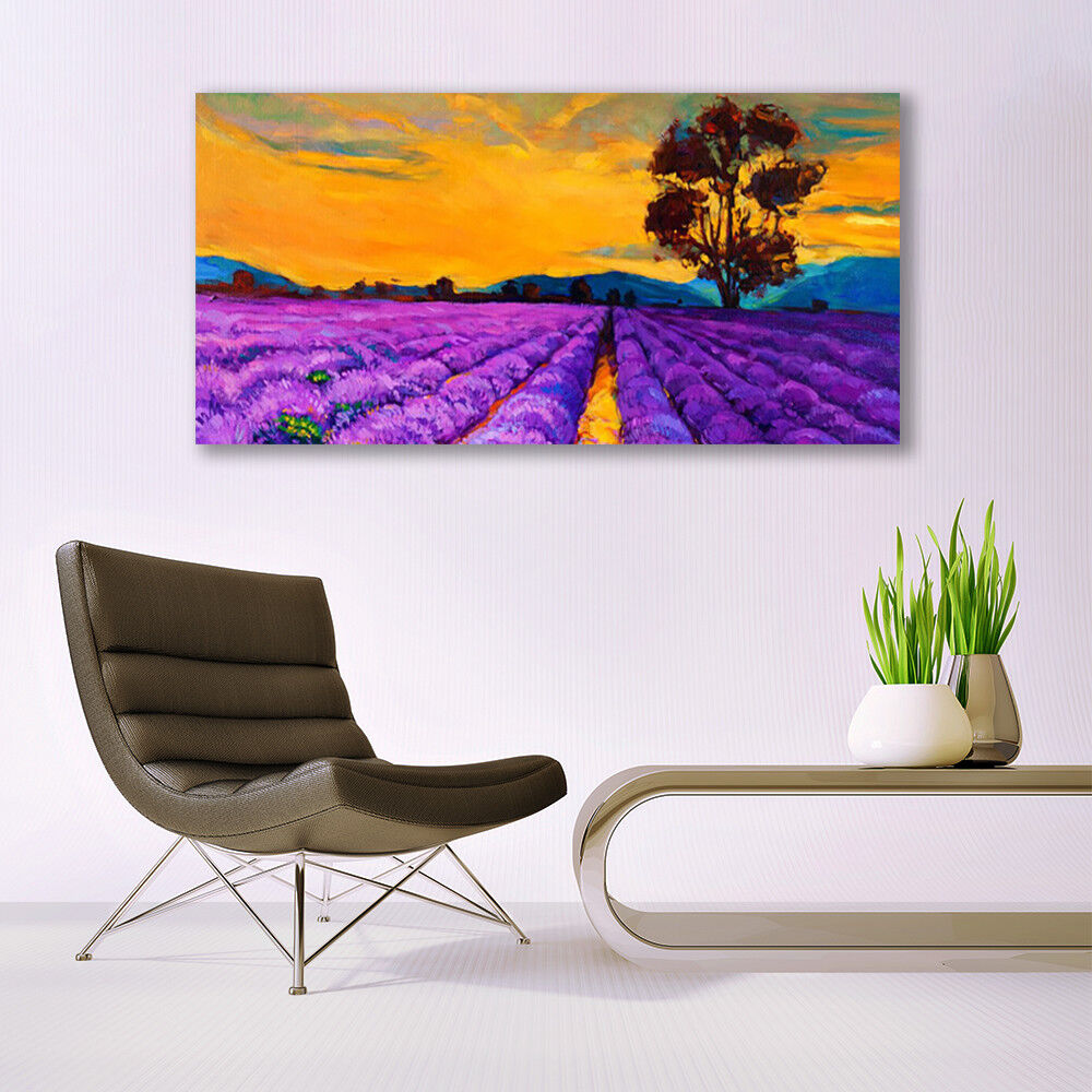 Glass print Wall art 140x70 Image Image Image Picture Field Landscape 6777b9