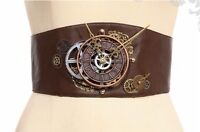 Steampunk Victorian Burlesque Corset Style Brown Clock Belt By Rq-bl
