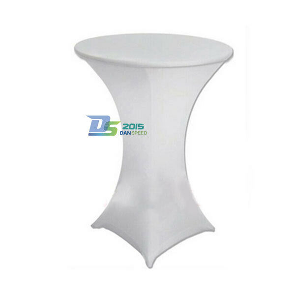 5 Pack Lycra Spandex Stretch Cocktail Table Poser Cover Bar Wedding Party Decor