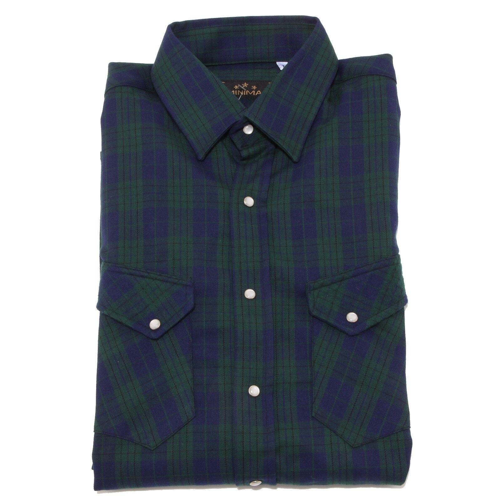 3321O camicia MINIMAL verde blu camicie uomo shirt men