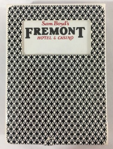 Las Vegas Playing Cards Fremont Hotel and Casino Game Used Black