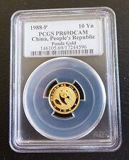 1988 10 YUAN GOLD PANDA PROOF PCGS 69 DCAM HIGH GRADE and SCARCE