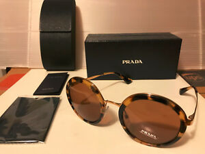 98fab739034f Image is loading NEW-PRADA-PR50TS-7S06N0-Sunglasses-Medium-Havana-Brown-