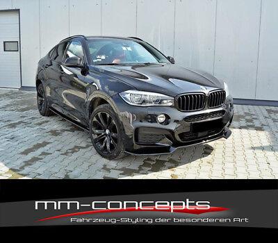 Cup Spoilerlippe Front Ansatz V.1 für BMW X6 F16 M Paket schwarz matt