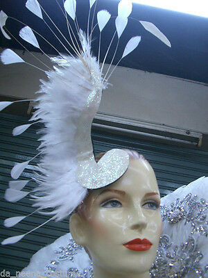 Da NeeNa TIG Showgirl Burlesque Vegas Feather Headdress