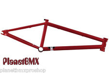 "Premium BMX Products ""The STRAY"" FRAME 21"" 4130 Cr-Mo BLOOD RED s&m haro fit"
