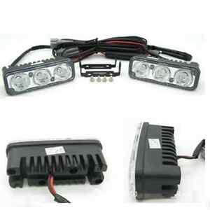 2PC-3-LED-White-High-Power-Car-DRL-Daytime-Running-Light-Fog-Lamp-Universal-12V