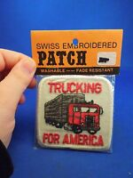 Vintage Swiss Brand Trucking For America Washable Embroidered Sew On Patch