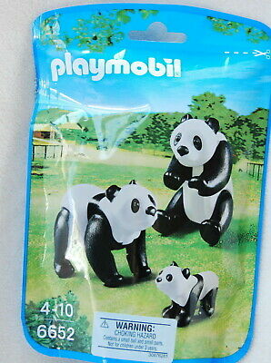 BRAND NEW Playmobil City Life Zoo Animals Panda Bear Family Pack 3 Pieces #6652