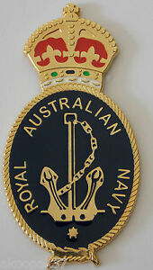 ROYAL-AUSTRALIAN-NAVY-BADGE-KC-LARGE-SIZE-FOR-PLAQUES-FRAMING-DISPLAY-95MM-HIGH