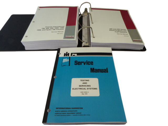 IH International Harvester 186,786,886,986,1086,1486,1586 Service Repair on