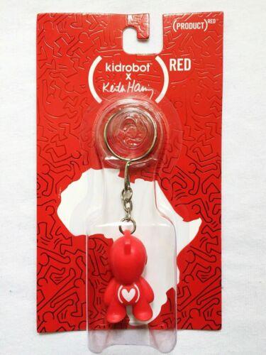 Kidrobot X Keith Haring Rouge Art pour l/'Afrique Keychain Keyring édition spéciale