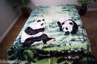 5 Pounds Soft Queen Korean Mink Blanket Plush Throw Panda Bears Pandas Grass